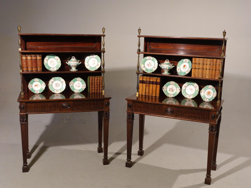 A Most Unusual Pair of Late 19th Century Mahogany Pier Tables Incorporating Bookcases
