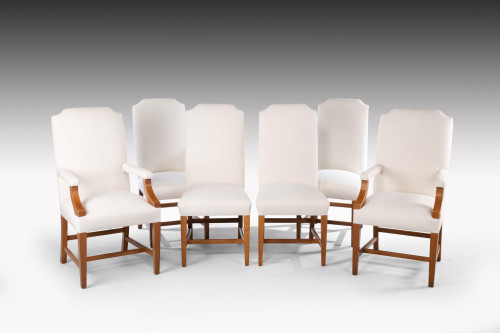 A Hand Built Set of Six Late 20th Century High Backed Single Chairs