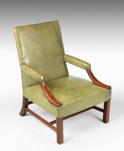 A Substantial Early 20th Century Mahogany Framed Gainsborough Chair