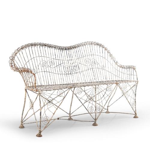 An Elaborate Mid 19th Century Wirework Sofa