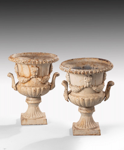 An Attractive Pair  of Late 19th Century Neoclassical Style Garden Urns