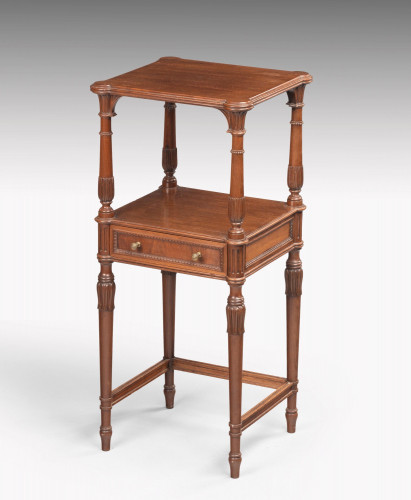 A Late 19th Century Mahogany Night Stand or Lamp Table