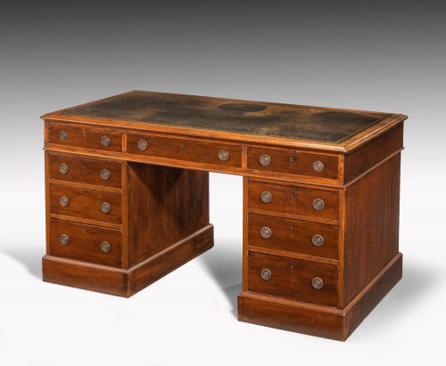 A Most Attractive Late 19th Century Mahogany Desk in the Georgian Manner