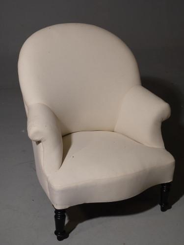 A Late 19th Century Scrolled Arm Tub Chair