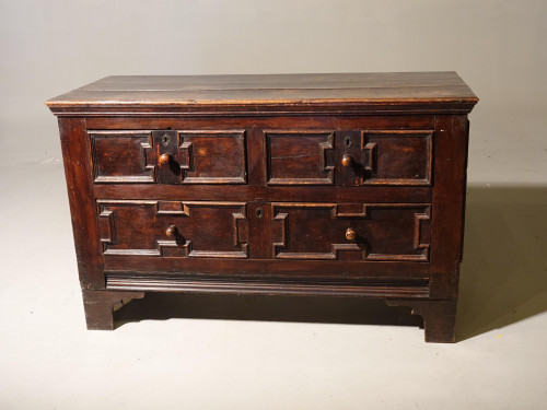 An Unusual Late 17th Century Continental Oak and Walnut Chest of Drawers