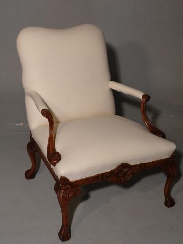 A Well Carved Early 20th Century Gainsborough Armchair