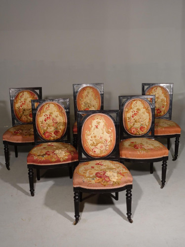 An Excellent Set of 6 Early 20th Century Salon Chairs
