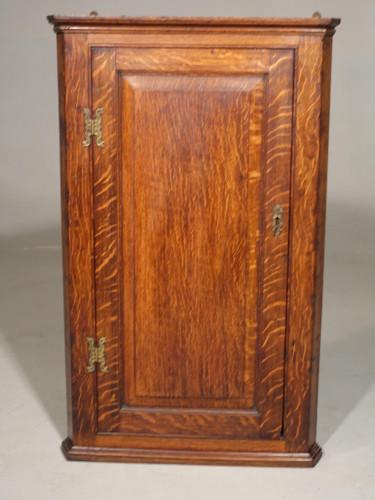 A Good George III Period Oak Corner Cupboard