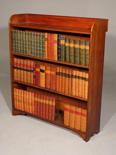 An Edwardian Period Mahogany Open Bookcase
