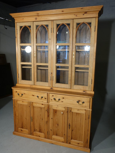A Most Attractive Mid 20th Century Pine Housekeeping Cupboard