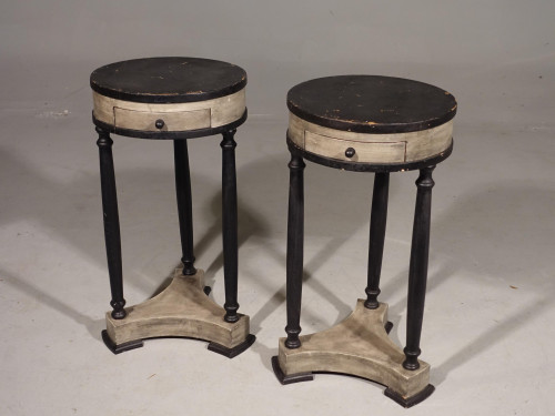 An Attractive Pair of Early 20th Century Continental Lamp Tables
