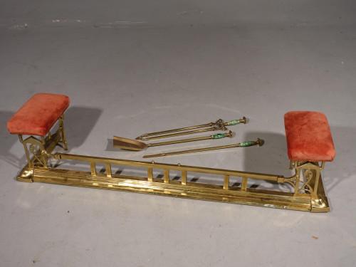 An Attractive Art Nouveau Brass Club Fender