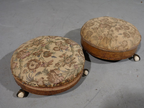 An attractive Pair of Mid Victorian Circular Stools