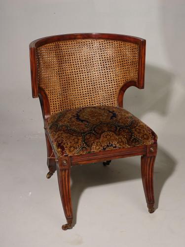 A Good Regency Period Klismos Cane Backed Chair