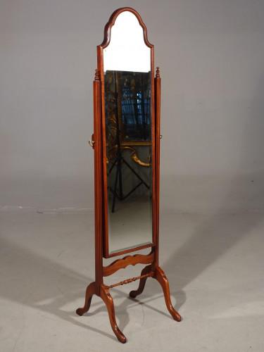A Very Good Mid 20th Century Mahogany Framed Cheval Mirror