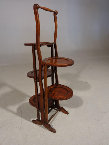 A Unusual 1920's Mahogany Double Sided Tilting Cake Stand.