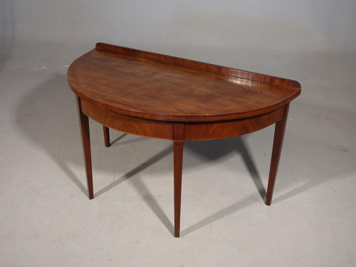 A Good George III Period Mahogany Demilune Side Table