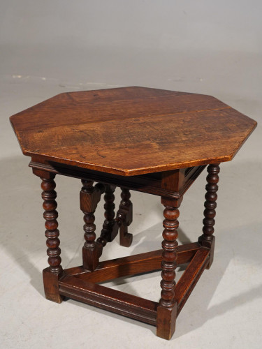 An Unusual Mid 20th Century Miniature Oak Credence Table