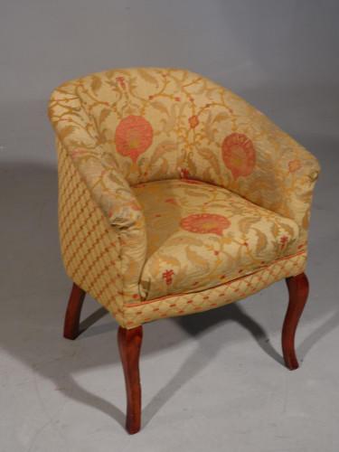An Edwardian Cabriole Legged Chair of Club Form