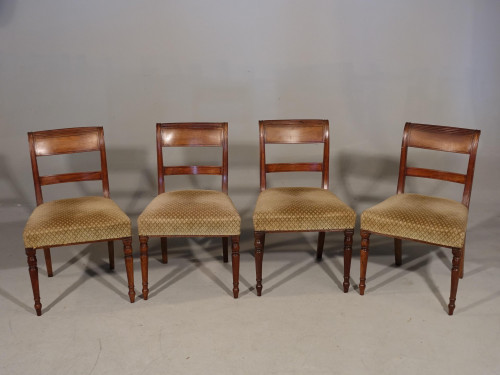 A Good and Original Set of 4 Regency Period Mahogany Single Chairs