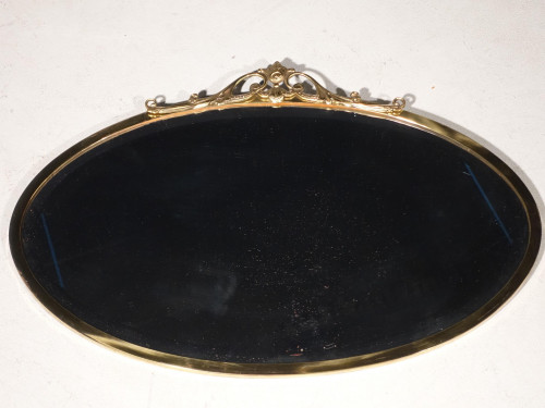 An Early 20th Century Gilded Brass Framed Mirror
