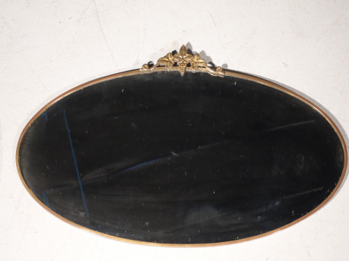 A Mid 20th Century Gilded and Brass Framed Mirror
