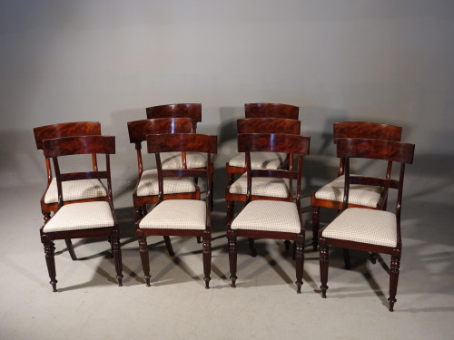 A Fine Quality Composite Set of 10 Regency Period Chairs
