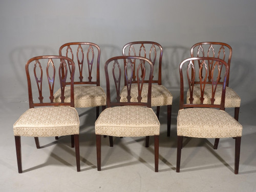 A Very Good Set of 6 George III Period Hooped Backed Single Chairs