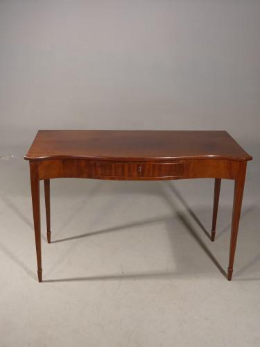 An Elegant George III Period Serpentine Mahogany Serving Table