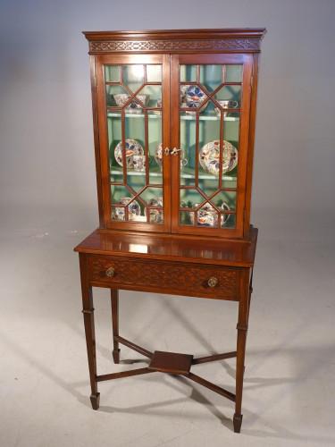 An Elegant Edwardian Period Display Cabinet / Bookcase
