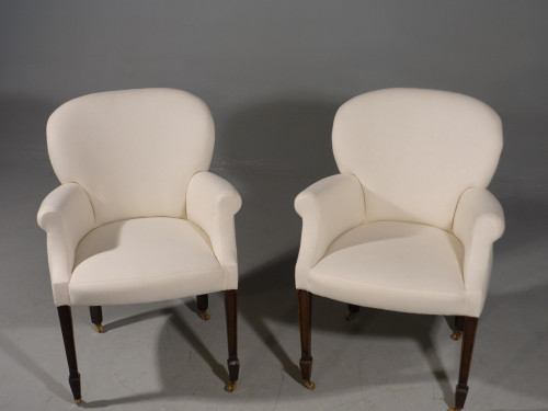 An Elegant Pair of Early 20th Century Armchairs