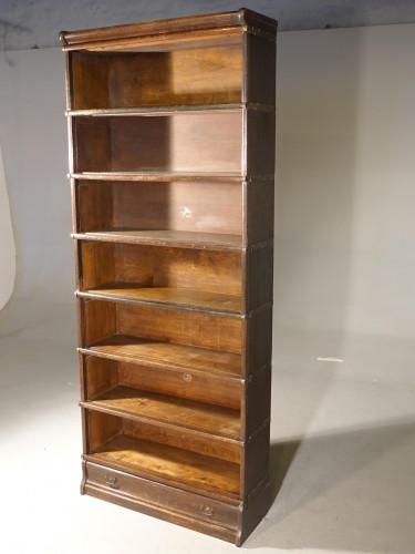 A Glode-Wenicke Seven Height Open Bookcase