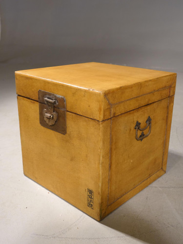 An Early 20th Century Pig Skinned Oriental Travelling Case