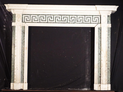 A Most Attractive Edwardian Period Carrara Marble Fireplace