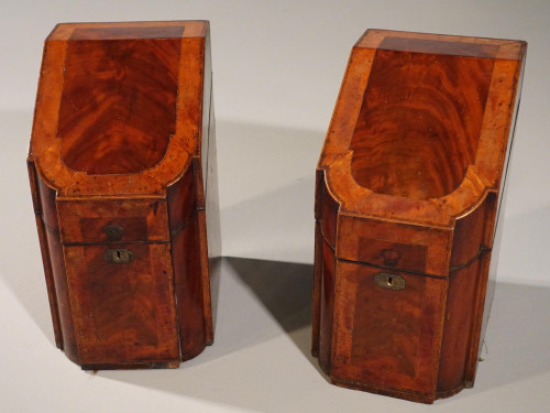 An Exceptional Pair of Sheraton Mahogany Knife Boxes