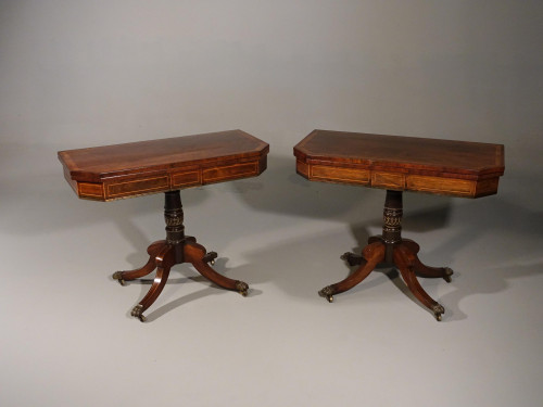 A Fine Pair of Regency Period Card Tables