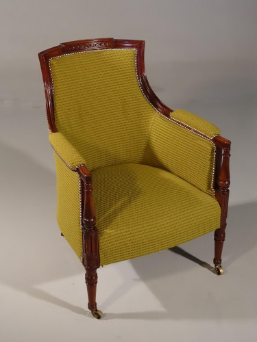 A Very Well Carved 19th Century Club Chair