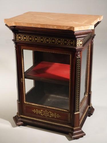 A Fine Mid 19th Century Brass Inlaid Cabinet
