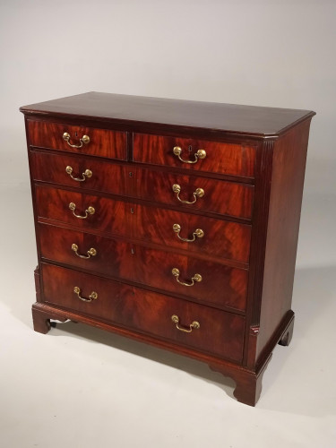 A Unusual George III Period Mahogany Chest of Drawers