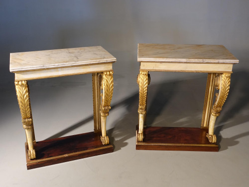 An Attractive Pair of French, Mid 19th Century Pier Tables