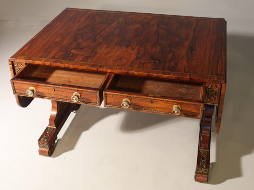 An Outstanding Regency Period Rosewood Sofa Table