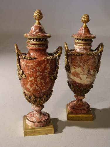 An Exceptional Pair of French, Late 19th Century, Ormolu Mounted, Marble Vases