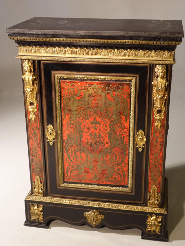 An Exceptional Late 19th Century Buhl Inlayed Tortoiseshell Cabinet