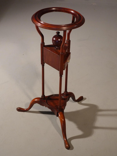 A Good George III Period Mahogany Wig or Bowl Stand
