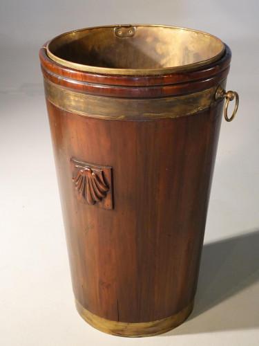 A Massive Early 20th Century Irish Mahogany Peat Bucket.