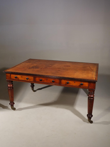 A Very Good and Original Gillows Six Drawer Writing / Library Table