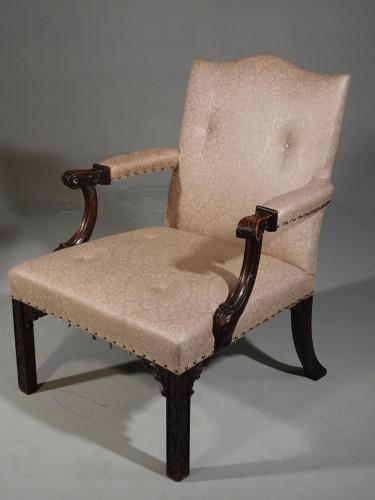 An Early 20th Century Mahogany Framed Gainsborough Armchair