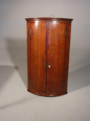 A Good Queen Anne Period Oak Corner Cupboard