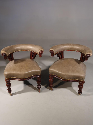 A Fine Pair of Mid 19th Century Desk or Library Chairs