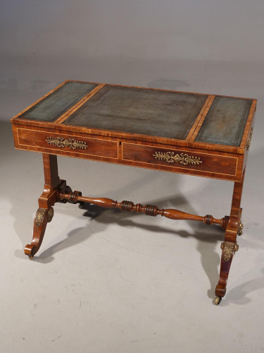 A Very Fine and Original Regency Period Rosewood Writing or Library Table